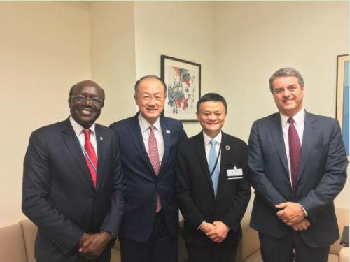 2016年9月,马云受时任联合国秘书长潘基文邀请,出任联合国贸易和发展会议青年创业和小企业特别顾问。