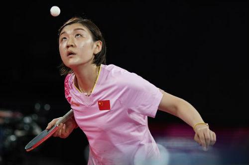 當地時間2021年7月29日,日本東京,2020東京奧運會乒乓球女子單打決賽中,中國選手陳夢成功奪得金牌。
